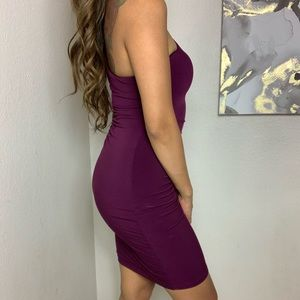 Guess One Shoulder Side Cutout Rouched Bodycon